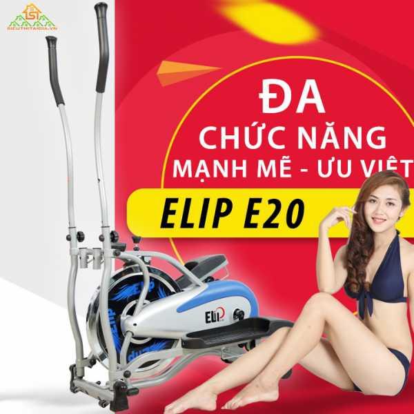 Xe đạp tập tổng hợp Elip E20: Đạp xe + Đi Bộ