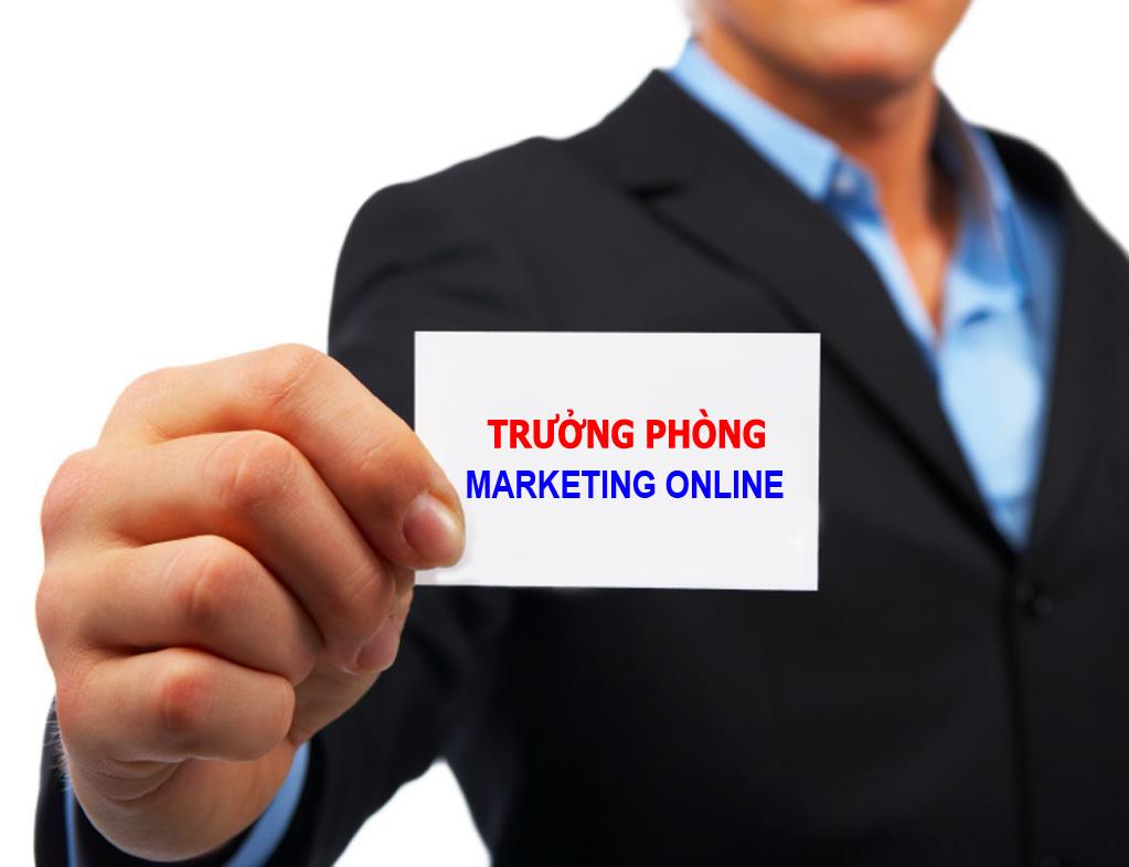 Tuyển dụng vị trí Trưởng phòng Marketing Online