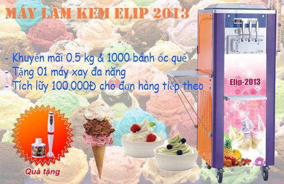 Thay thế nhiều hương vị cho kem làm từ máy làm kem tươi Elip