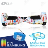 Xe Điện Cân Bằng Elip Style White-3T-Pin Samssung