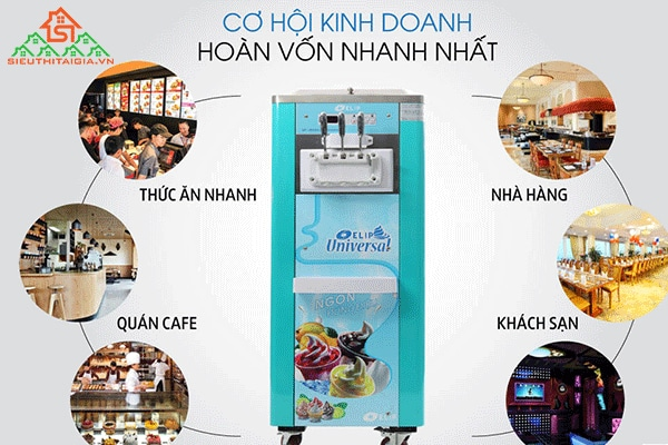 nguyên lý máy làm kem tươi