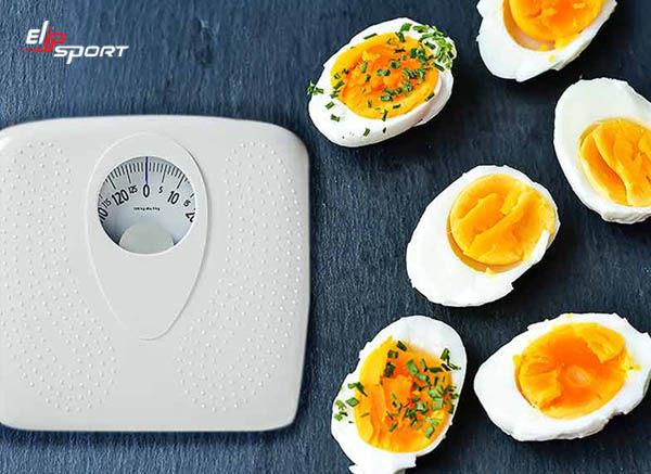 ăn trứng luộc giảm cân