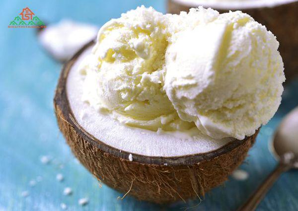 cách làm kem dừa bằng máy xay sinh tố