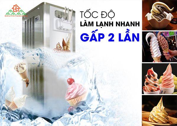 quy trình sản xuất kem tươi bằng máy làm kem