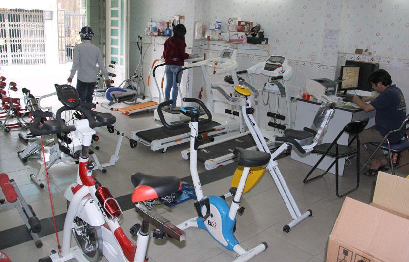Phòng tập gym thu nhỏ tại hệ thống showroom - ảnh 1