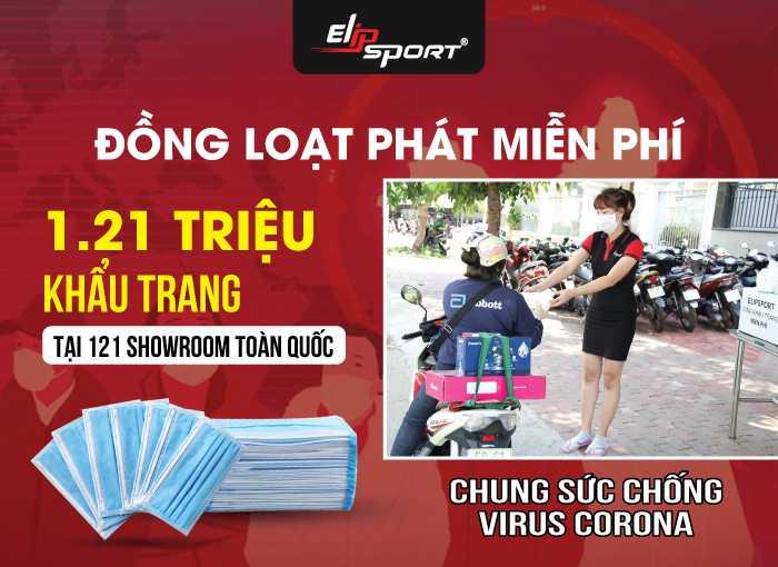 Elipsport Phát Hơn 1 Triệu Khẩu Trang Miễn Phí Ngừa Đại Dịch Virus Corona