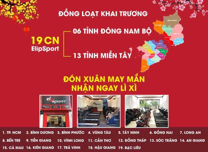 KHAI TRƯƠNG TƯNG BỪNG - 19 CHI NHÁNH ELIPSPORT MỚI