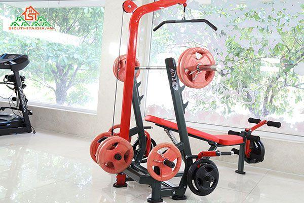 Ghế tập, giàn đẩy tạ đa năng, dụng cụ thể hình ELIP tại TP.Bảo Lộc Lâm Đồng