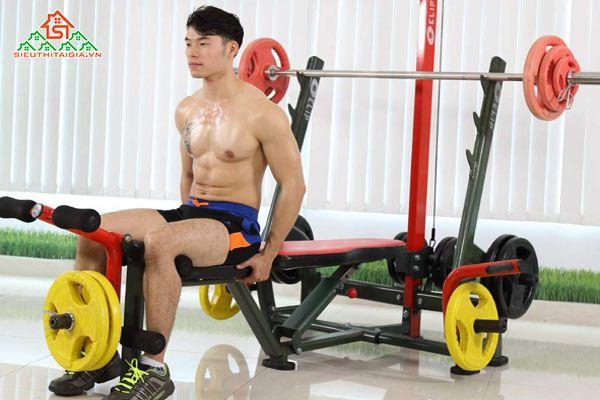 Ghế tập, giàn đẩy tạ đa năng, dụng cụ thể hình tại Tp.Tuyên Quang, Yên Bái