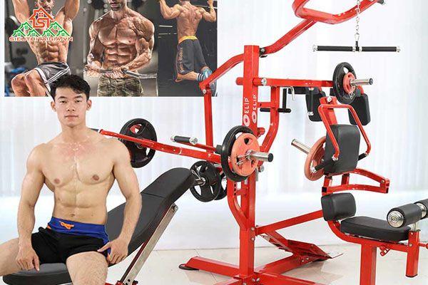 Ghế tập, giàn đẩy tạ đa năng, dụng cụ thể hình ELIP tại Hải Châu, Liên Chiểu - TP.Đà Nẵng