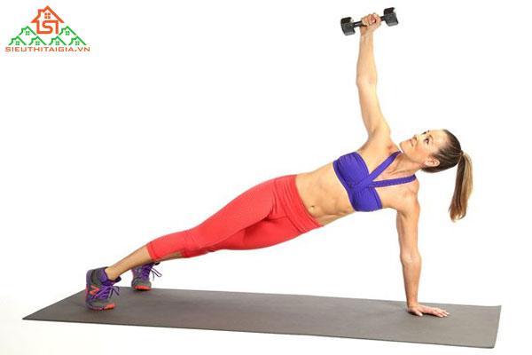 top 4 bài tập với tạ tay cho nữ có cánh tay thon gọn