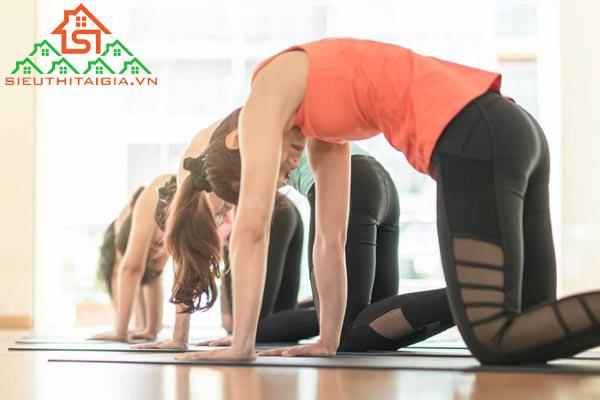 tập yoga ra nhiều mồ hôi