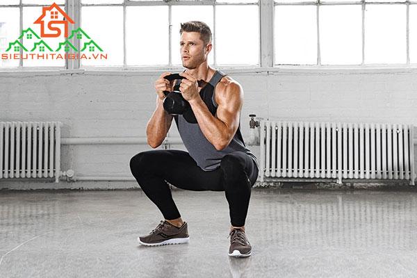Tập squat tại nhà