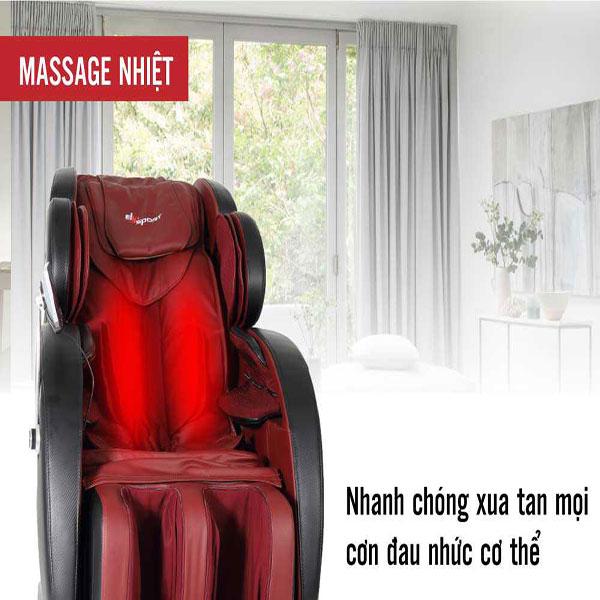 Tác dụng của ghế massage nhiệt hồng ngoại