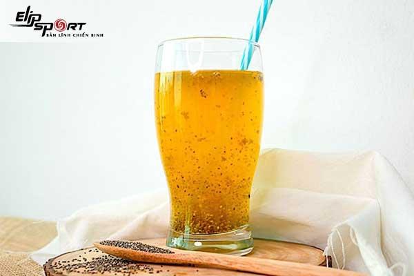 Detox hạt chia, xoài và cam