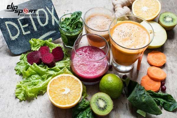 Detox rau củ giảm cân