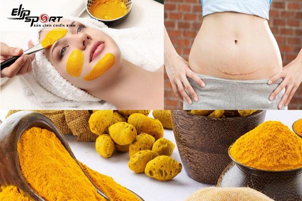 uống nghệ mật ong giảm cân sau sinh