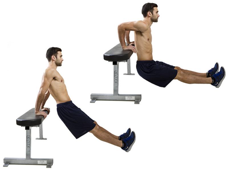Bài tập Tricep dips tăng cơ bắp tay