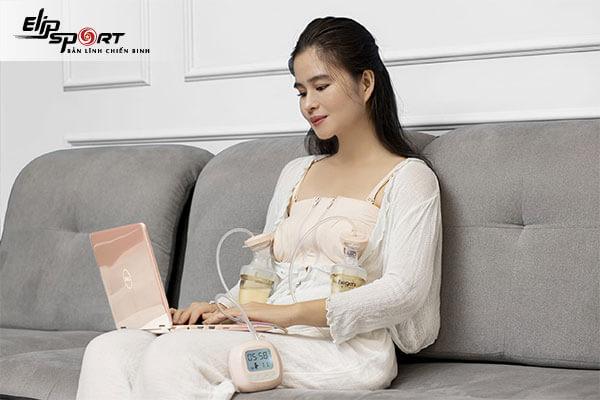 Ngực mẹ có thể bị căng tức nếu dùng máy vắt sữa nhiều
