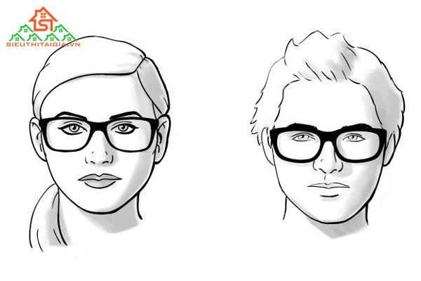 mặt gầy nên đeo kính gì