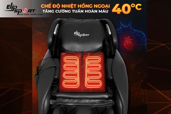 ghế massage nhiệt hồng ngoại trị khó ngủ
