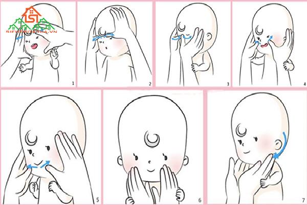 massage mặt cho trẻ sơ sinh