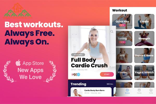 app tập thể dục tại nhà