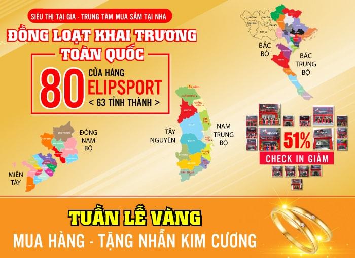 KHAI TRƯƠNG TOÀN QUỐC - 80 CỬA HÀNG ELIPSPORT - BIG SALE 51%