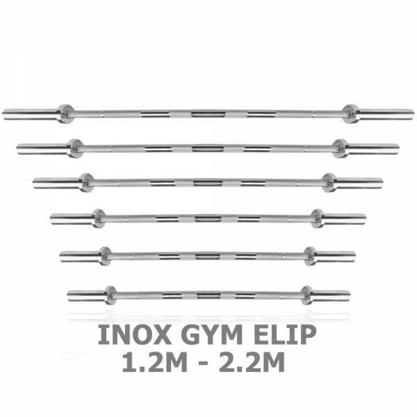 Ảnh sản phẩm Đòn tạ inox GYM Elip từ 1.2m đến 2.2m