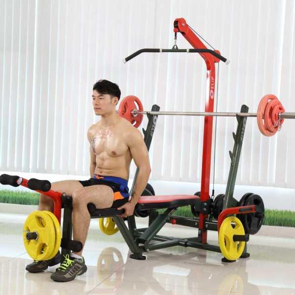 Ảnh sản phẩm Ghế tạ đa năng Elip Power Max 9in1 - 40kg Tạ + Đòn Tạ