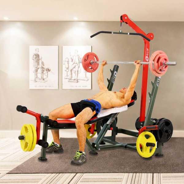 Ghế tạ đa năng Elip Power Max 9in1 - 40kg Tạ + Đòn Tạ