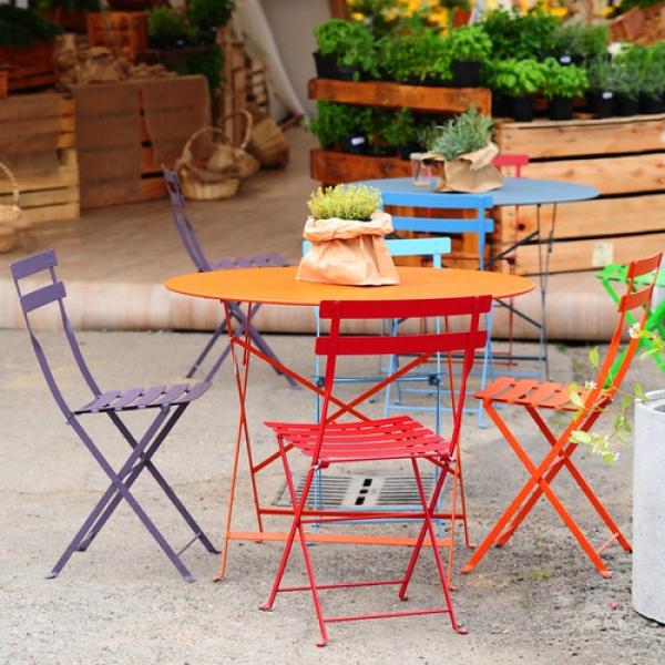 Bộ bàn ghế ăn tròn mix Bistro