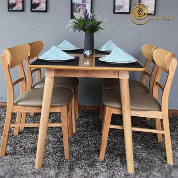 Bộ bàn ăn gỗ Elip Mango
