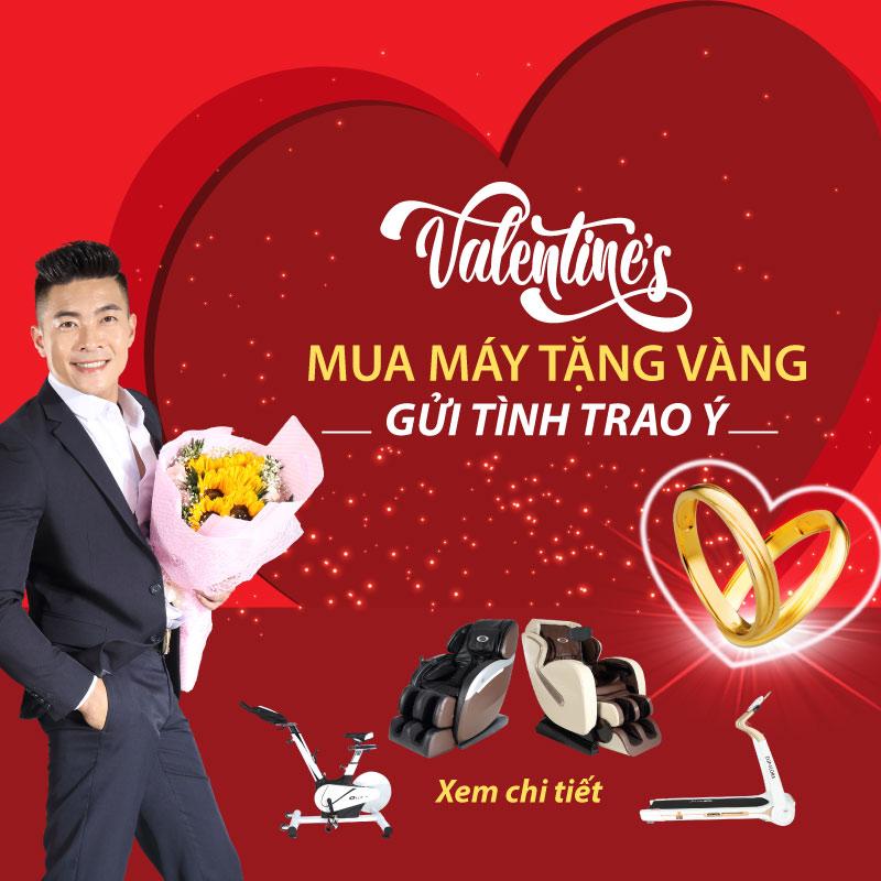 Khuyến mãi mua hàng tặng vàng mùa valentine