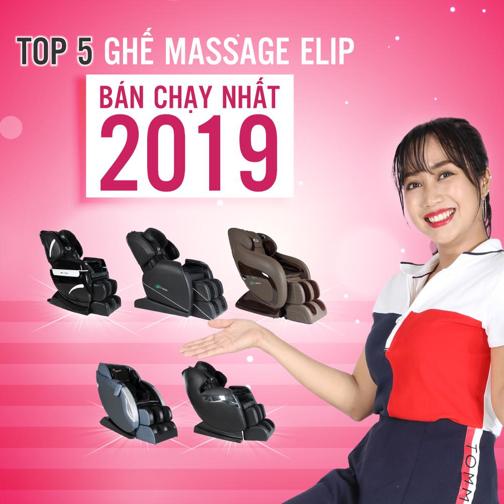 Top 5 ghế massage toàn thân Elip bán chạy nhất tại ElipSport 2019