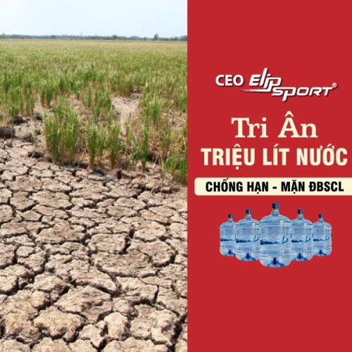 CEO Elipsport tri ân 1 triệu lít nước chống hạn mặn ĐBSCL