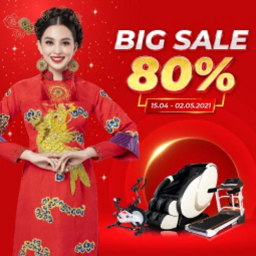 Big Sale 30.4: Giảm giá đến 80% trên toàn hệ thống Sieuthitaigia.vn