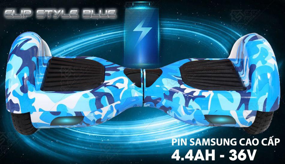 Xe Điện Cân Bằng Elip Style-Pin Samsung-Blue - ảnh 1
