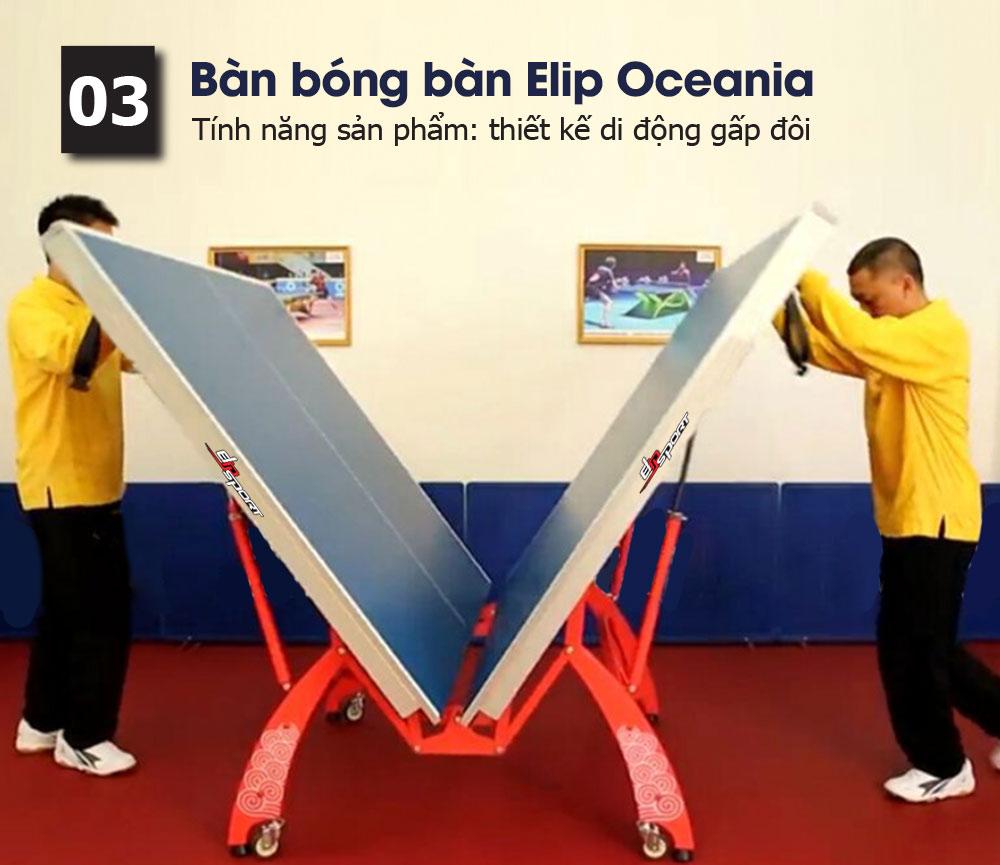 Bàn bóng bàn Elip Oceania - ảnh 1