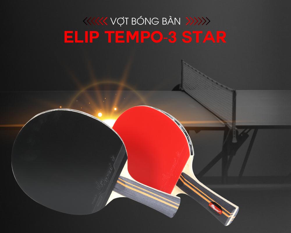 Vợt bóng bàn Elip Tempo - 3 Star