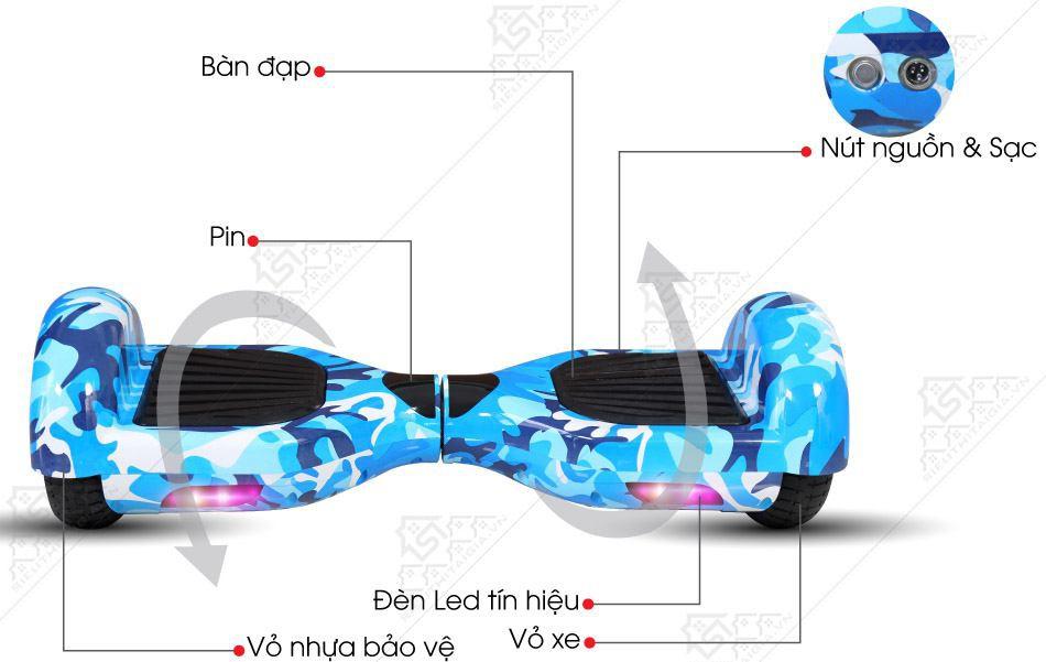 Xe Điện Cân Bằng Elip Style-Pin Samsung-Blue - ảnh 4