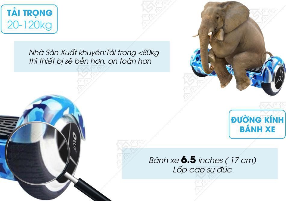 Xe Điện Cân Bằng Elip Style-Pin Samsung-Blue - ảnh 2