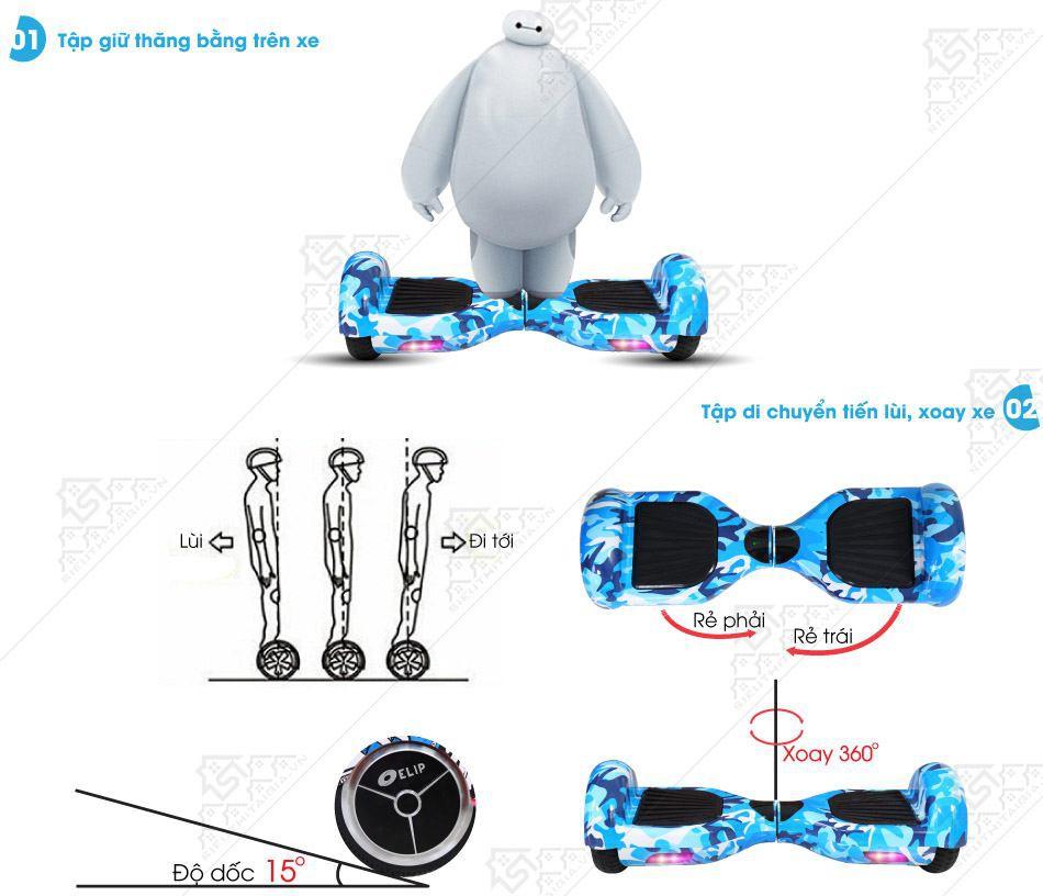 Xe Điện Cân Bằng Elip Style-Pin Samsung-Blue - ảnh 5