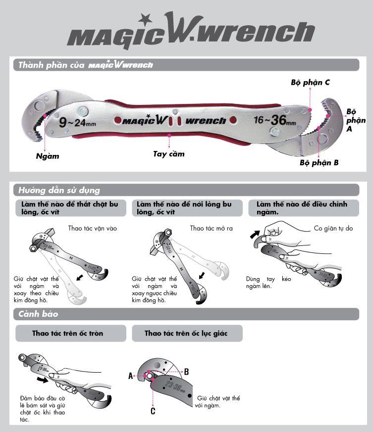 cơ lê đa năng Magic Wrench