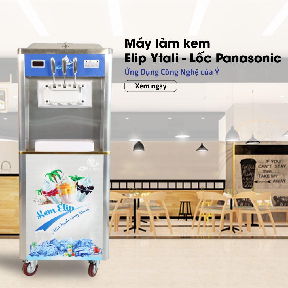 Sử dụng máy làm kem tươi Elip tiết kiệm điện