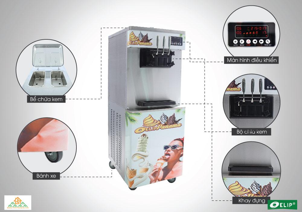 thiết kế máy làm kem tươi Elip Panama