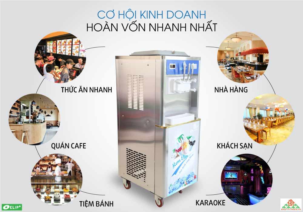 năng suất máy làm kem tươi Elip Ytali