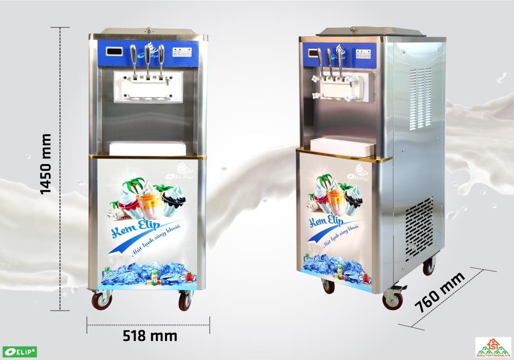 thông số máy làm kem Elip Ytali
