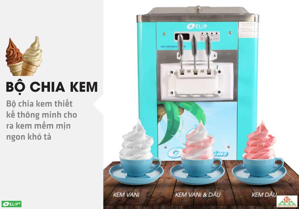 ứng dụng máy làm kem Elip Prime