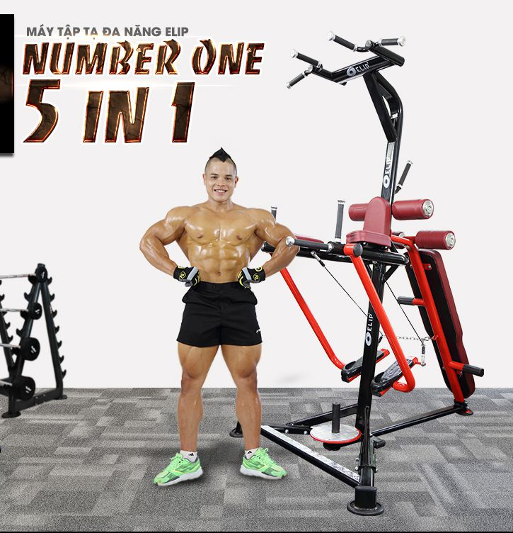 Máy tập tạ đa năng Elip Number One 5 in 1 - ảnh 1